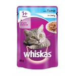 WHISKAS C/FD POUCHES TUNA IN JELLY 85GR